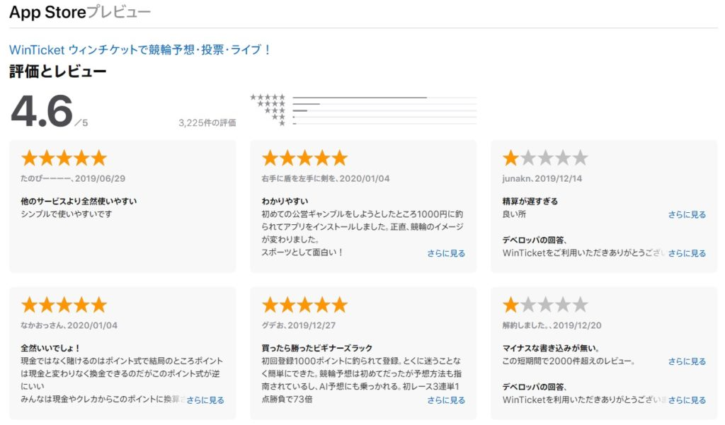 Win Ticket App Storeプレビュー